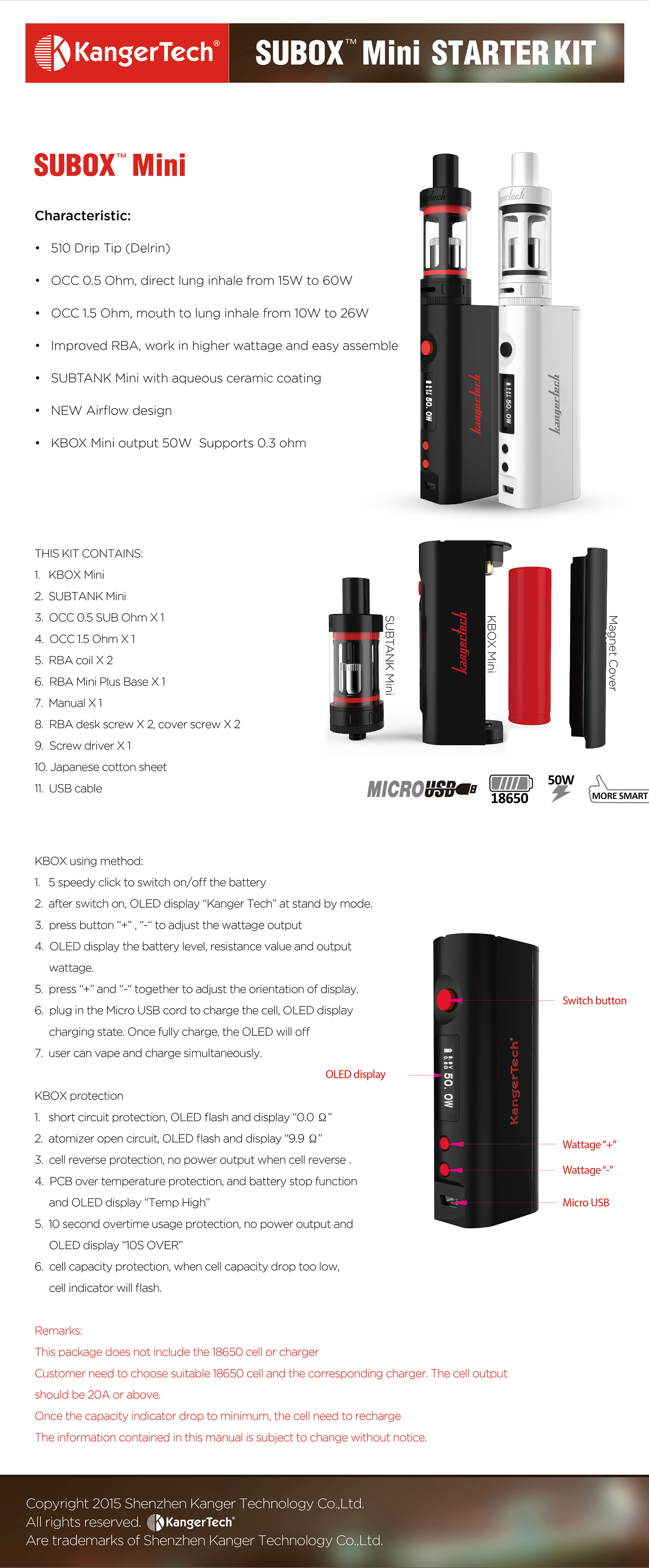 SUBOX Mini Official Infograph